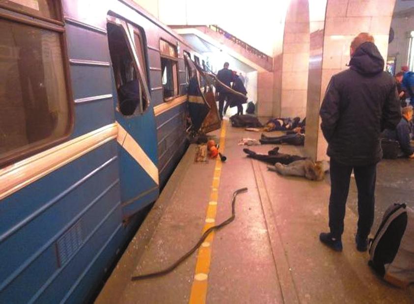 俄罗斯圣彼得堡地铁大爆炸 至少11人亡 事发时普京正在当地