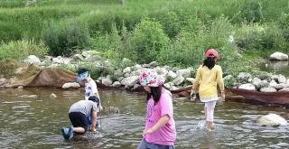 一方水土:这个地方让孩子下水徒手摸鱼